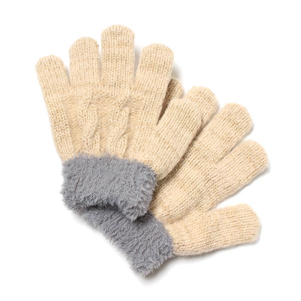 ケーブル編みのびのび手袋(男の子)
