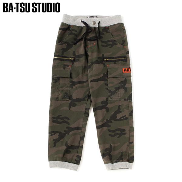 【BA-TSU STUDIO】ストレッチ迷彩ジョガーパンツ(男児)