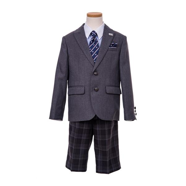 MLKチェックパンツスーツ(男の子)