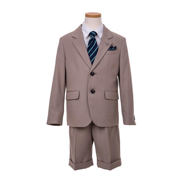 MLK2ツ釦ブラウンスーツ(男の子)