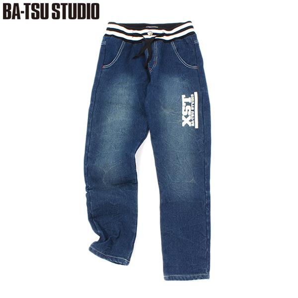【BA-TSU STUDIO】裏起毛ボンディングデニムパンツ(男児)