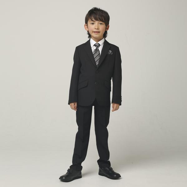 【WANDER FACTORY】グレーストライプロングパンツスーツ(男の子)