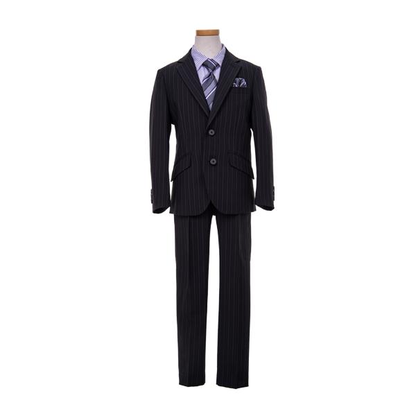 【WANDER FACTORY】黒ストライプロングパンツスーツ(男の子)