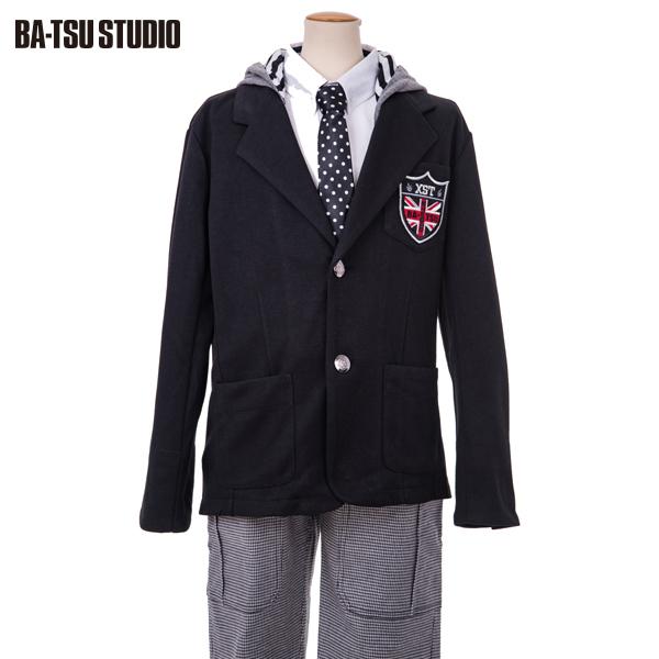 【BA-TSU STUDIO】フード付きポンチテーラードジャケット(男児)