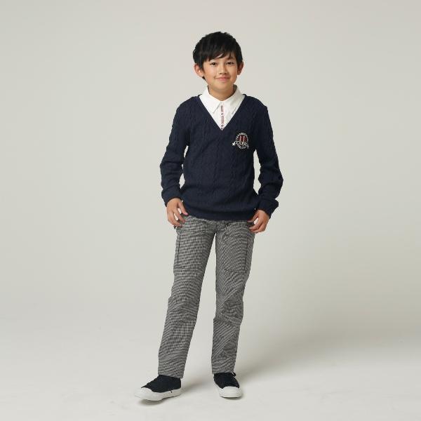 【BA-TSU STUDIO】ベルト付きストレッチパンツ(男児)