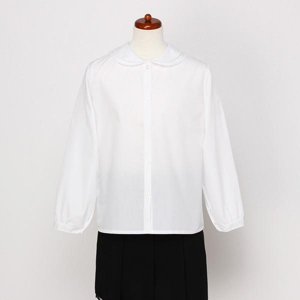 【サイズ展開:100ー160cm】長袖布帛ブラウス(女の子)