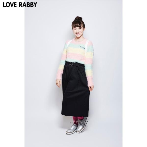 【LOVERABBY】ベルト付きワイドパンツ(女児)