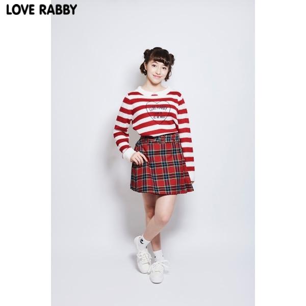 【LOVERABBY】チェックプリーツスカパン(女児)