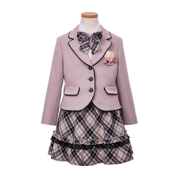 パイピングベージュジャケットスーツ(女の子)
