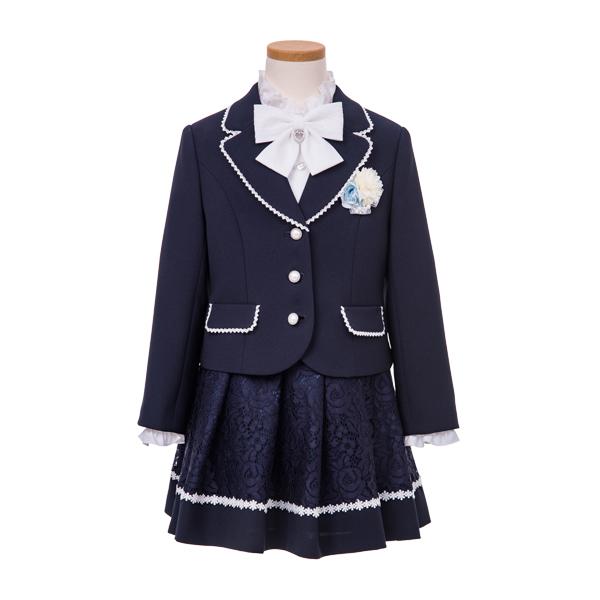 ジャガードスカートネイビースーツ(女の子)