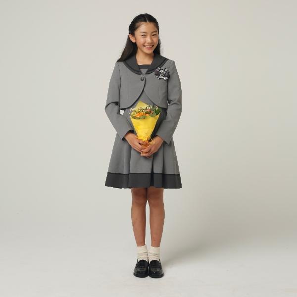 セーラー襟アンサンブルゆったりサイズ(女児)