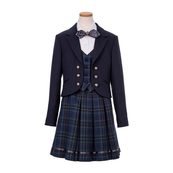 フェイクレイヤードジャケットスーツ(女児)