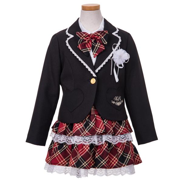 【hiromichi nakano children】ハートポケジャケット3点スーツ(女の子)