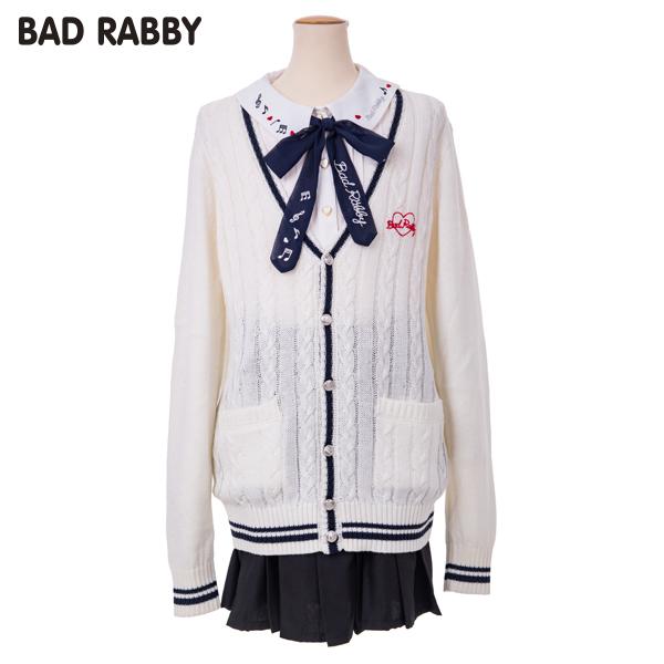 【BADRABBY】ライン入りカーディガン(女児)