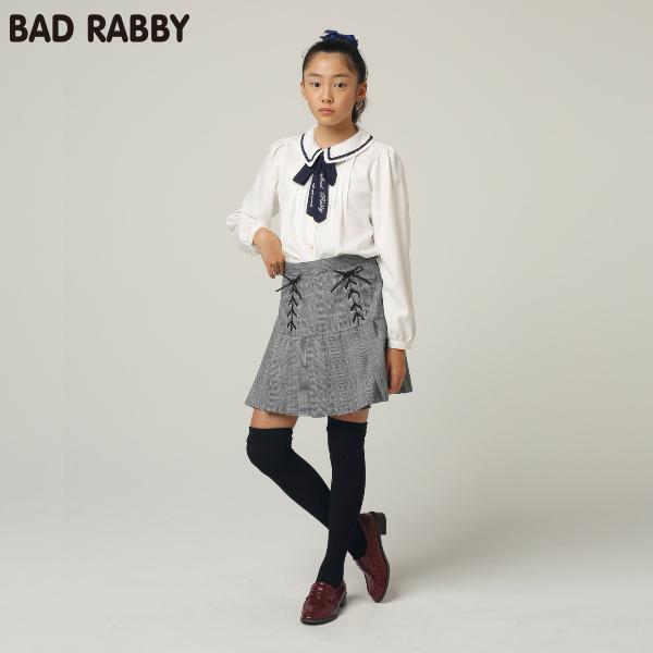 【BADRABBY】グレンチェックレースアップスカパン(女児)