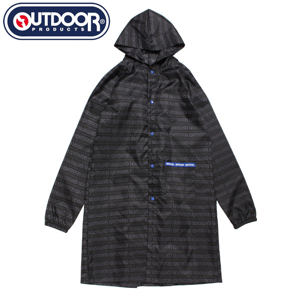 【OUTDOOR PRODUCTS】ロゴボーダー柄レインコート(男児)