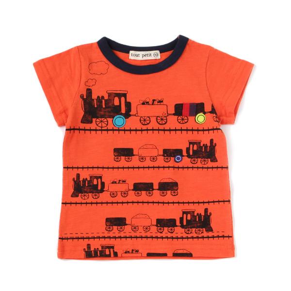 【tout petit】電車Tシャツ(男の子)