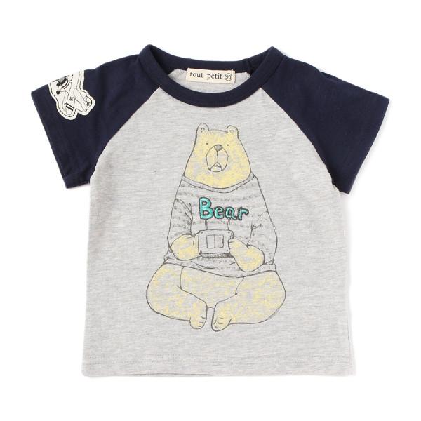 【tout petit】クマとラジコンTシャツ(男の子)