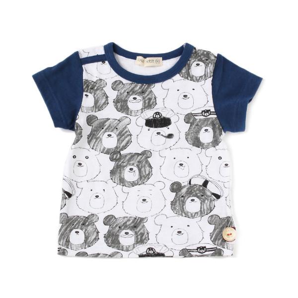 【tout petit】クマTシャツ(男の子)