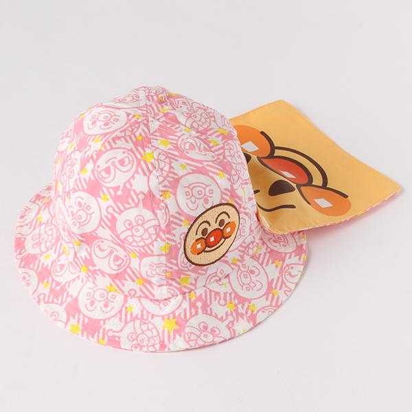 【アンパンマン】日よけ付きブロード帽子(女の子)