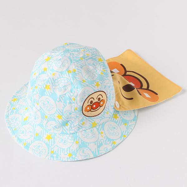 【アンパンマン】日よけ付きブロード帽子(男の子)