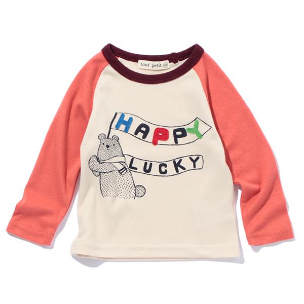 【tout petit】フラッグベアTシャツ(男の子)