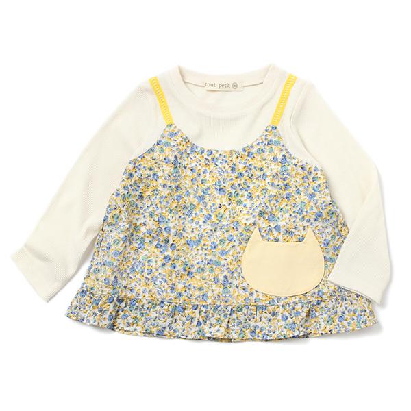 【tout petit】キャミ重ね着風Tシャツ(女の子)