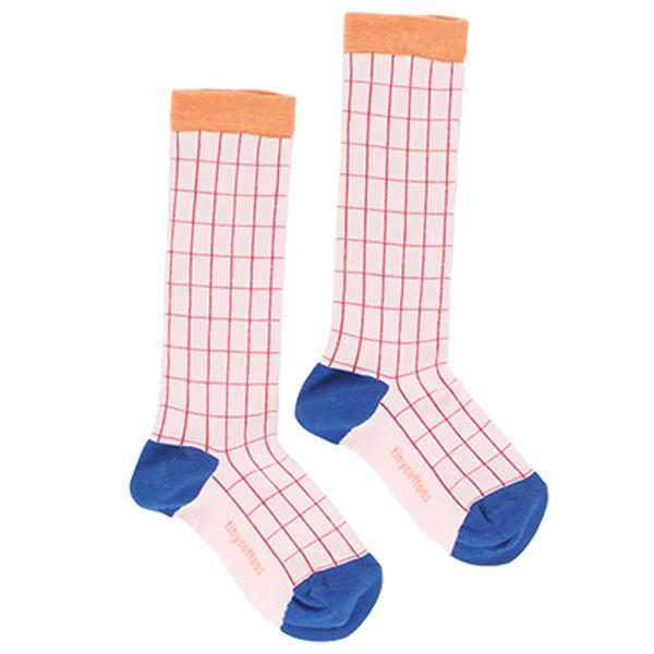 【tinycottons】grid high socks