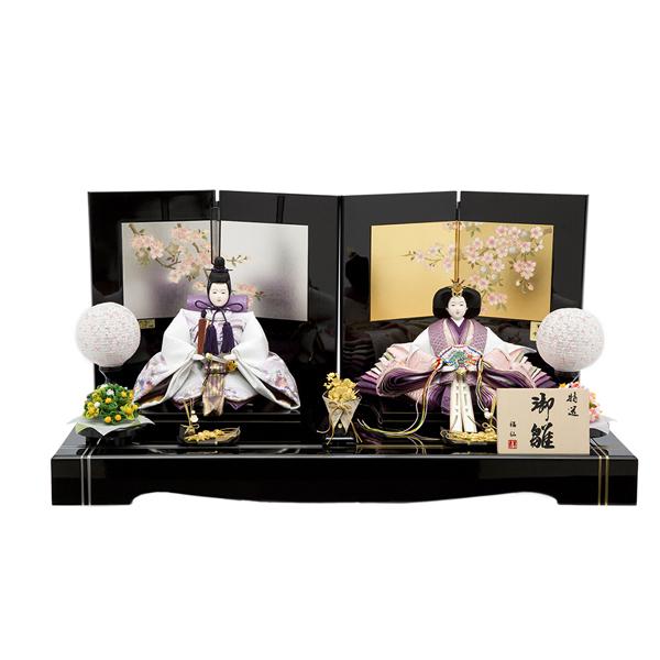 【WEB早得】【福仙】紫姫雛親王平飾り