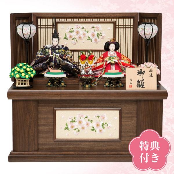 【WEB早得】【福仙】みやび桜親王収納飾り
