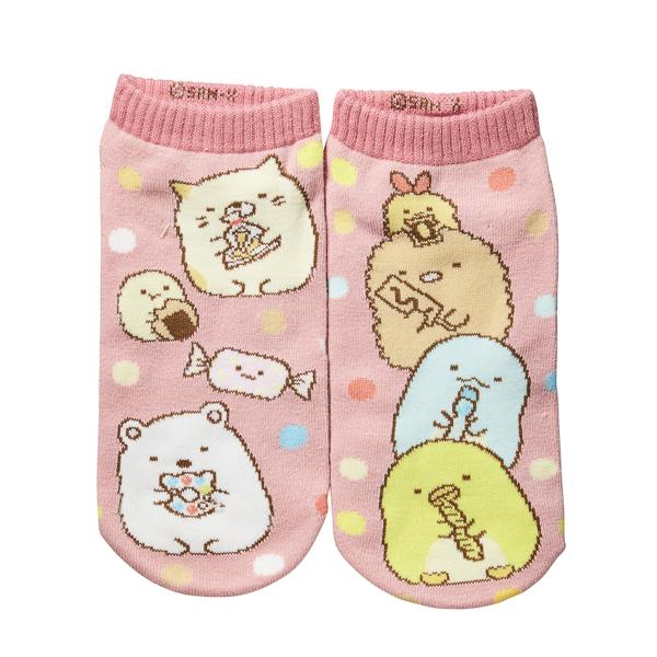 【すみっコぐらし】すみっコドット左右編み分け柄前面SNK(駄菓子)(女児)