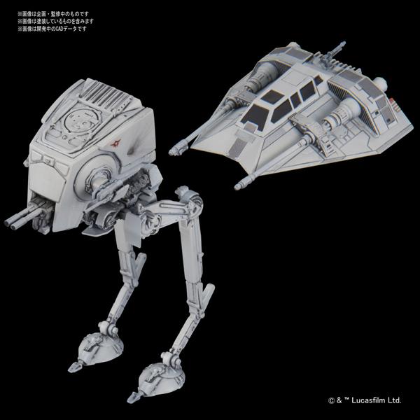 【バンダイ プラモデル】ビークルモデル 008 AT-ST(EP5)&スノースピーダー