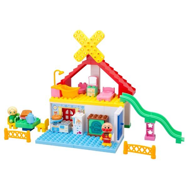 それいけ!アンパンマン パン工場とすべり台のおうちブロックバケツ 4549660249009 知育玩具 積み木