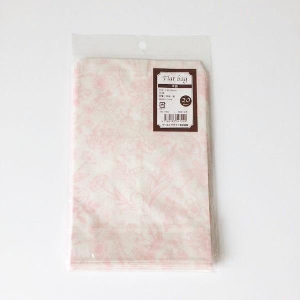 平袋花柄5号(ピンク)