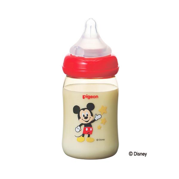 母乳実感哺乳瓶プラスチック 160ML ミッキー柄