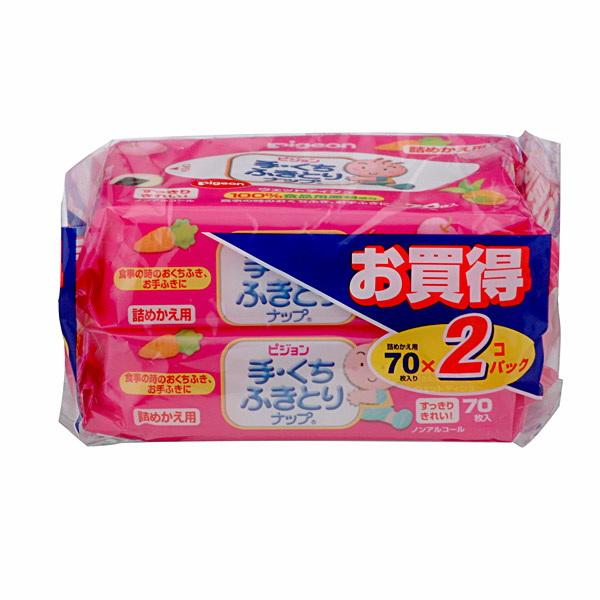 【ピジョン】手くちふきとりナップ 詰替え用 70枚x2