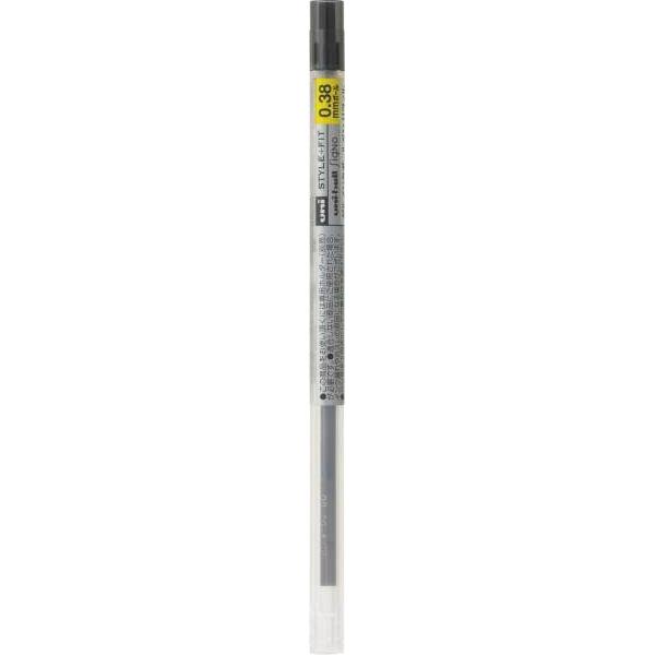 三菱鉛筆 スタイルフィット専用替芯 0.38mm ブラック