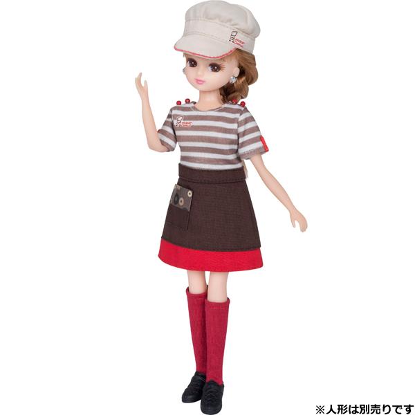 【リカちゃん】ミスタードーナツ てんいんさん ドレス
