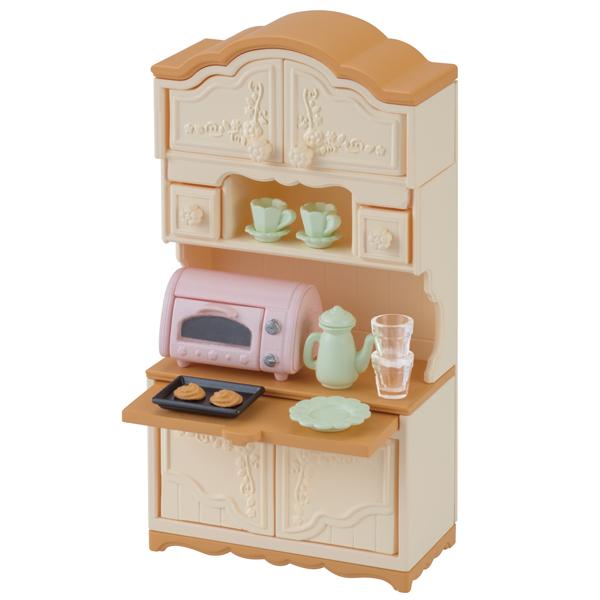 【シルバニアファミリー】【販売開始日6月24日】食器棚・トースターセット