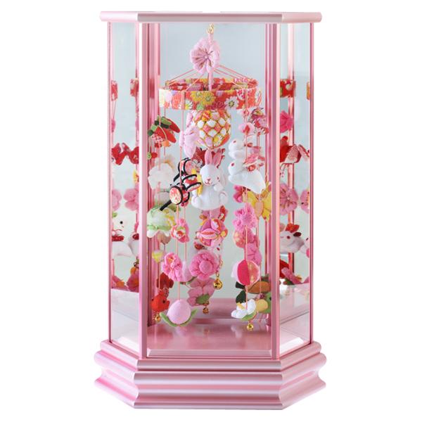 【WEB早得】【寿慶】吊るし飾りケース入り小ピンク うさぎなでしこ