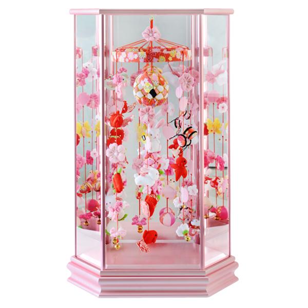 【WEB早得】【寿慶】吊るし飾りケース入り中ピンク うさぎなでしこ