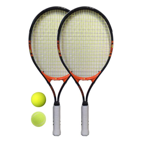 23インチ硬式用テニスラケット2本組(ネイビー)