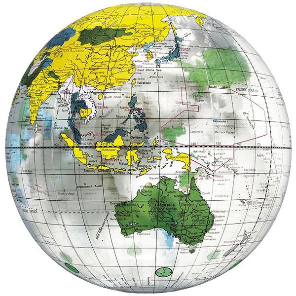 地球儀ボール40cm クリア