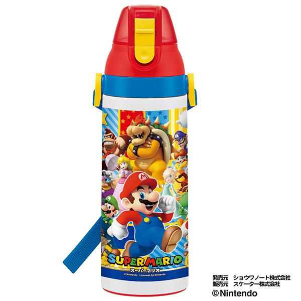 【早得】【予約】【新入学準備用品】【スーパーマリオ】ダイレクトステンレスボトル スーパーマリオ