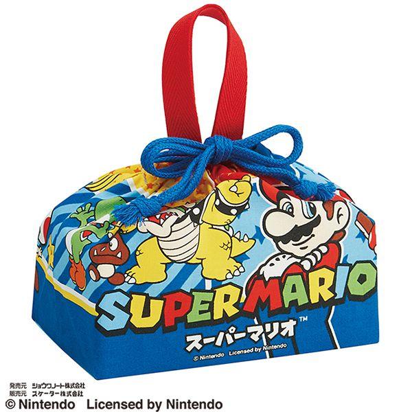 【早得】【予約】【新入学準備用品】【スーパーマリオ】ランチ巾着 スパーマリオ