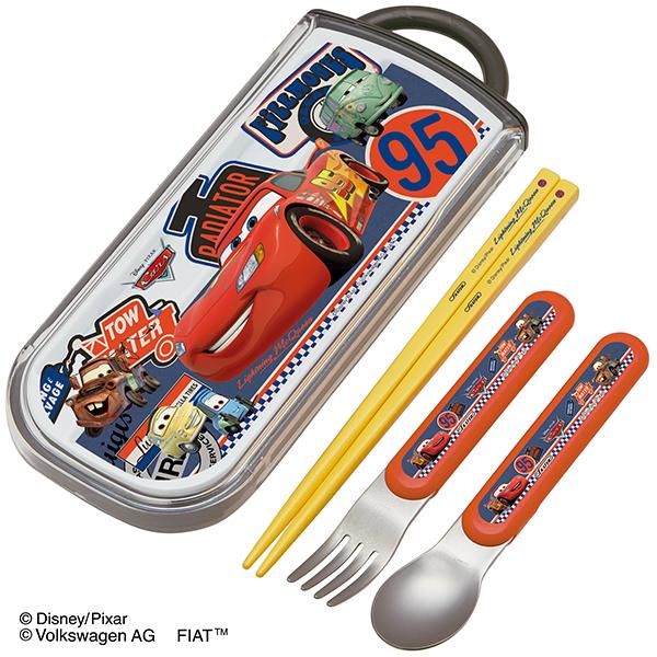 【早得】【予約】【新入学準備用品】【カーズ】食洗機対応スライド式トリオセット カーズ