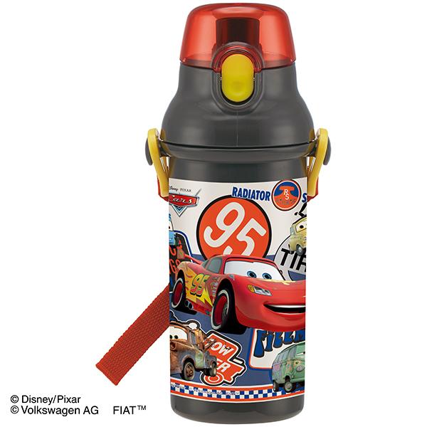 【早得】【予約】【新入学準備用品】【カーズ】直飲プラワンタッチボトル カーズ