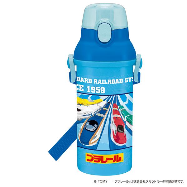 【早得】【予約】【新入学準備用品】【プラレール】直飲プラワンタッチボトル プラレール