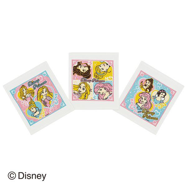 【早得】【予約】【新入学準備用品】【プリンセス】おしぼりタオル(3P) プリンセス パステル