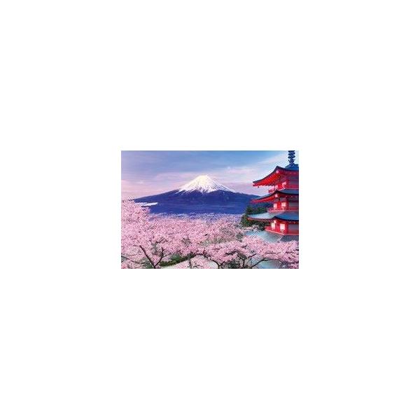 ジグソーパズル 五重塔から望む桜富士山梨 4977389107872 イラスト 風景